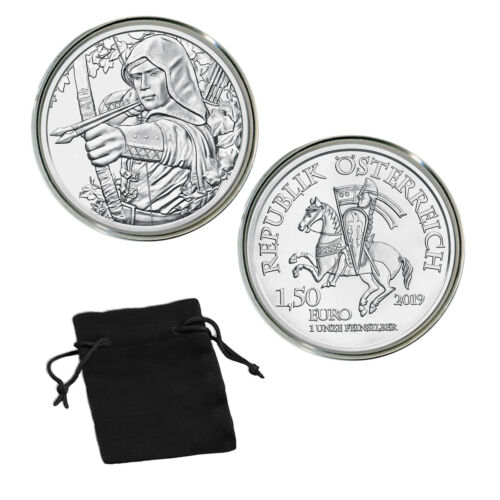 2019 Robin Hood 1oz Silver €1.5 Coin 825th Anniversary of the Austrian Mint
