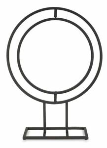 NaDeco-Metallstander-rund-50x38cm-in-sich-drehbar-Metallsockel-Dekostander