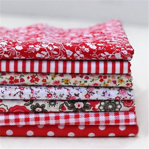 7Pcs Floral Print Sewing Patchwork Cloth Material Cotton Fabric Handmade 25//50CM