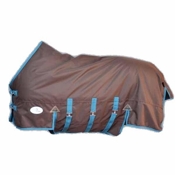 Pferdo 24 lluvia manta Lund 100g marrón Topline daselfo 3 cinturones abdominales outdoordecke