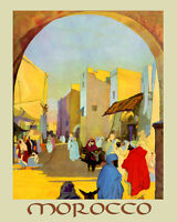 Morocco Arab Arabic People Country Travel Tourism 16x20 Vintage Poster Free Sh