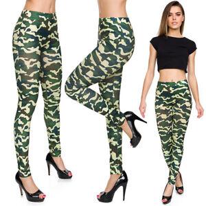 meilleur service le prix reste stable les clients d'abord Détails sur Femmes Camouflage Leggings Militaire Imprimé Skinny Taille  Haute Souple Pantalon