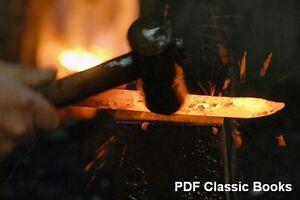Blacksmith Anvil Forge Steel Iron Welding 27 Books ~DVD Forging Blacksmithing