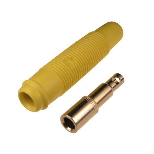 2 embrague Hirschmann kun30 para 4mm bannanenstecker soldadura kun 30 amarillo 040607