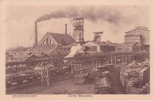 Ak Gelsenkirchen Zeche Rheinelbe, Ansichtskarte, Bergbau, Postkarte von 1913