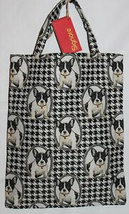 Hunde-Tasche-Gobelin-Franzoesiche-Bulldogge-Einkaufs-Beutel-Einkaufstasche