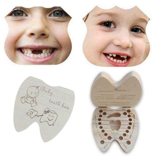 Baby Milch Zahn Zahn Lanugo Holz Lagerung Fee Kasten Organisator Mädchen Ju U6E2