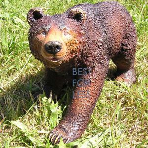 Brauner-Baer-Tierfigur-Figur-Sauna-Dekoration-Natur-Statue-Skulptur-Deko-Kanada