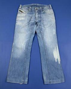 Diesel-woriks-jeans-uomo-usato-gamba-dritta-W32-tg-46-blu-denim-boyfriend-T5276