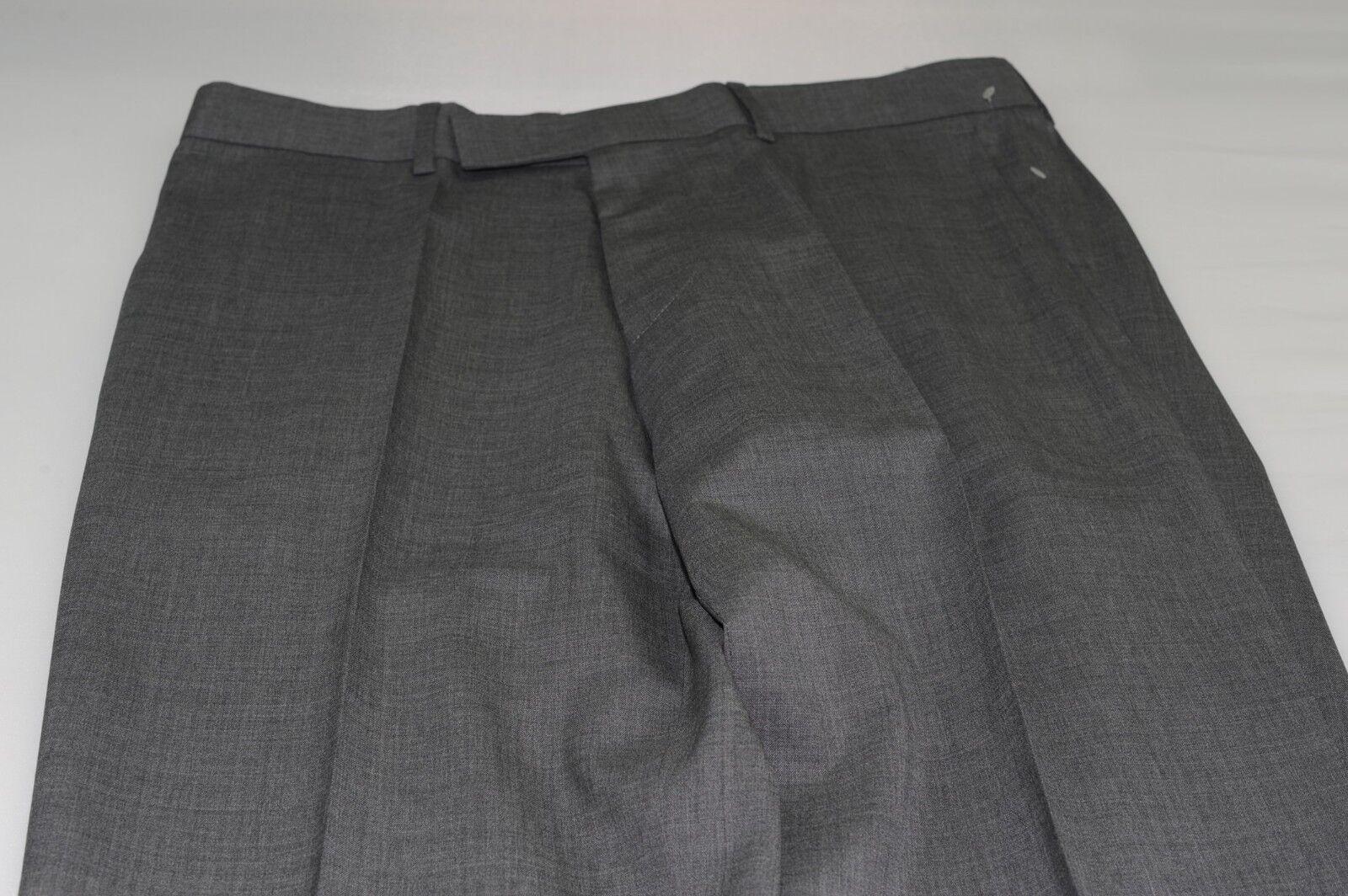 NWOT Hugo Boss C-Pasini C-Movie Flat Front Wool Dress Pants Waist 34 (38S)