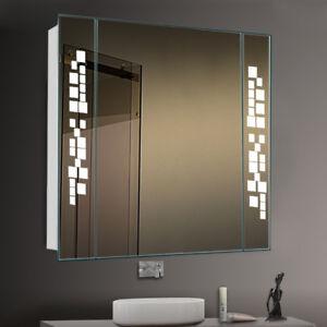 Surprising Details About Led Illuminated Bathroom Mirror Cabinet With Shaver Socket Light Fog Demister Uk Home Interior And Landscaping Oversignezvosmurscom