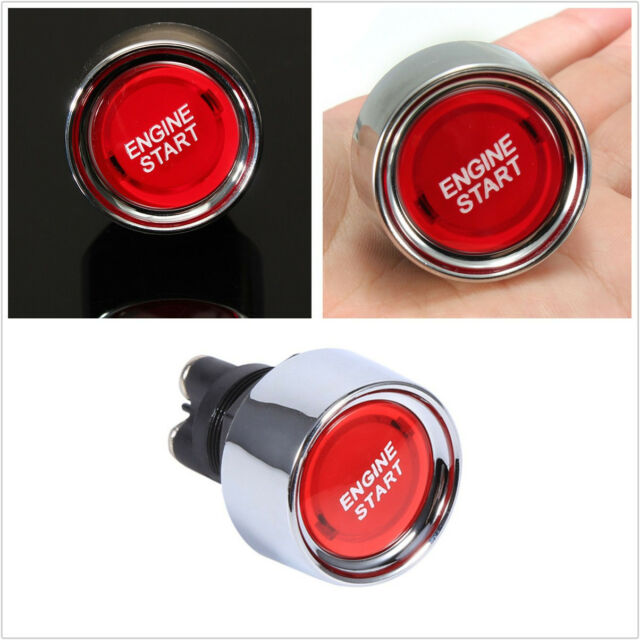 DC12-24V 50A LED Car Engine Power Start Red Ignition Starter Push Button Switch