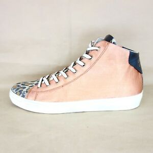 af2b8a48025e48 LEATHER CROWN Damen High Top Sneaker W1333 36 41 Muster Leder Schuhe ...