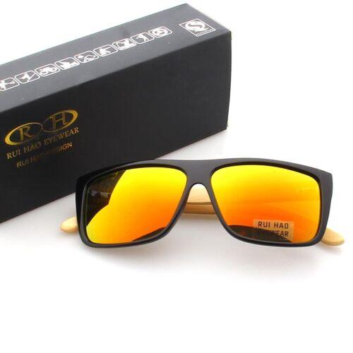Polarized Sunglasses Sun Glasses Frame Eyeglasses Eyewear Bamboo Temples