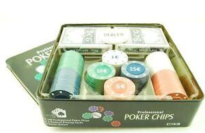 Juego de poker texas hold'em 2 barajas 100 fichas Nuevo