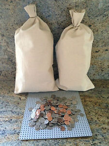 "7 CANVAS COIN BAGS MONEY CHANGE SACK BAG  9/"" BY 17.5/"" BANK DEPOSIT TRANSIT"