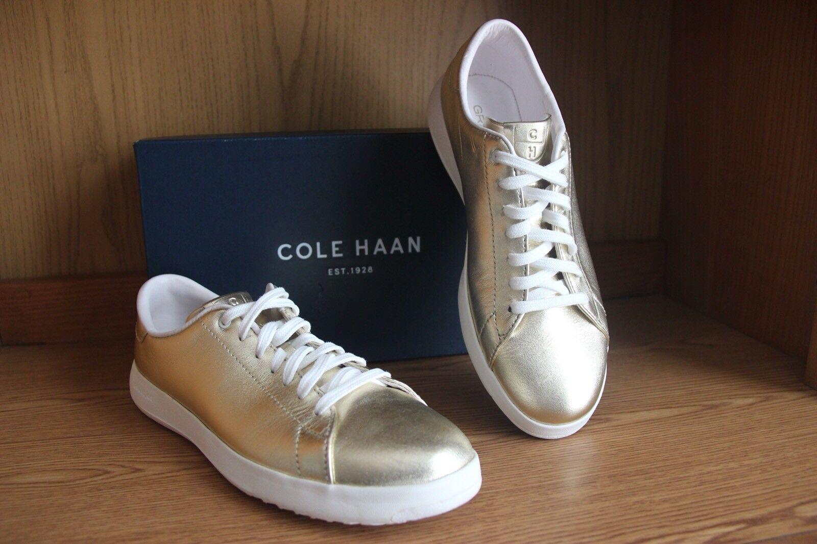 Cole Haan grandpro Tennis Chaussure Doré Métallisé Femmes Taille 9.5 W05880