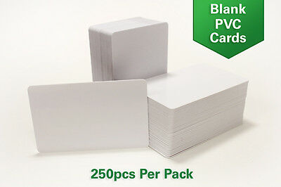 250 CR80 30Mil Blank White PVC Plastic Credit Photo ID Cards