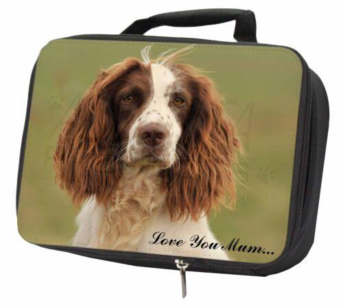 AD-SS77lymLBB Springer Spaniel Dog /'Love You Mum/' Black Insulated School Lunch
