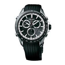 New Seiko Astron Solar GPS Chronograph Rubber Strap Men's Watch SSE015