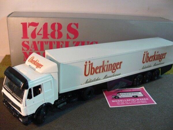 1 43 NZG MB sk uberkinger eau minérale  Kühlkoffer-semi-remorque 313  nouvelle exclusivité haut de gamme
