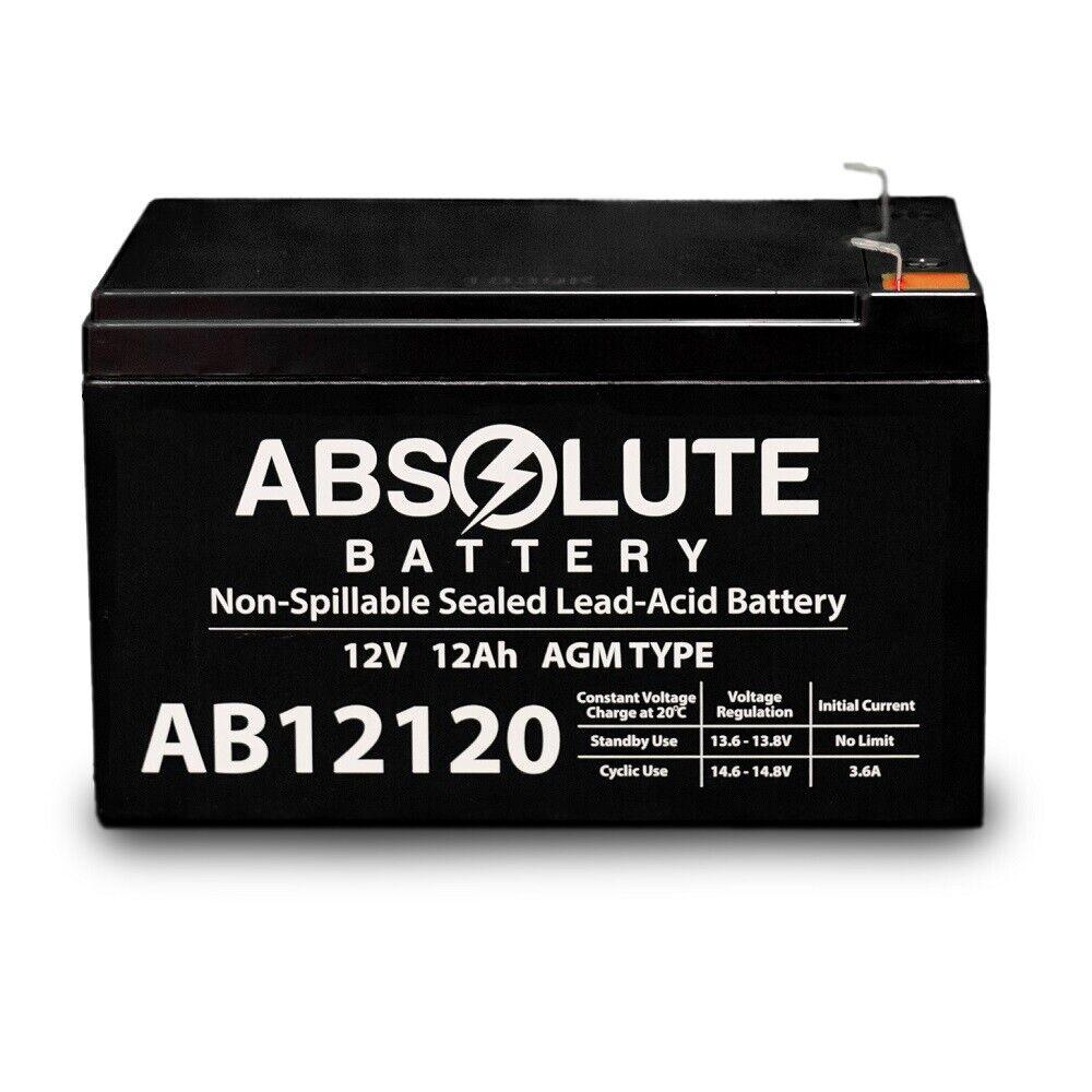 NEW AB12120 12V 12AH F2 Battery BOBCAT-3 Wheel Scooter S38600, S38601