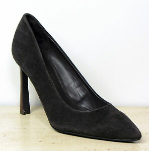 NEXT-Real-SUEDE-LEATHER-High-Heel-COURT-SHOES-Size-7-MINK-rrp-36