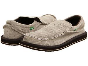 Détails sur Hommes Sanuk Chiba Slip On Textile Chaussures SMF1047 Tan 100% Authentique Neuf afficher le titre d'origine