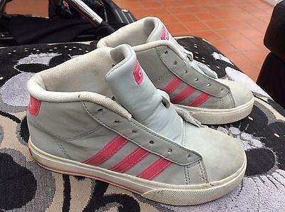 Chicas Adidas Neo Gris y Rosa Zapatillas Talla 13 Reino Unido