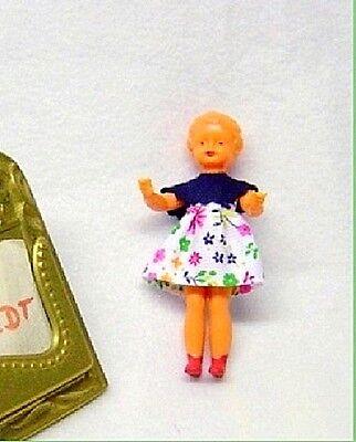 Schwenk Puppen Zubehör Miniatur Holz Leiter ca 9,5 cm x 3,5 cm...