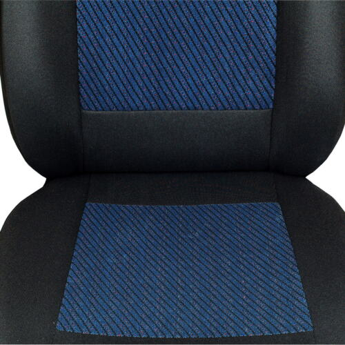 Schwarz-blaue Velours Sitzbezüge für FORD FIESTA Autositzbezug Komplett