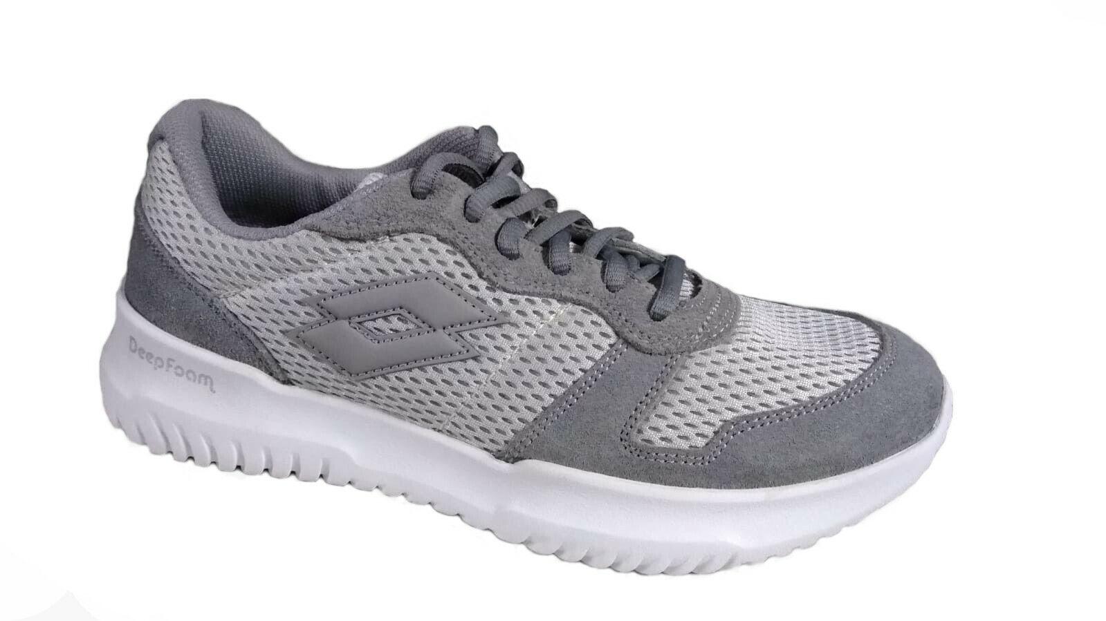 NEW Lot Shoes 210723 23p Grey Man Sneakers Fashion Low Memory Foam
