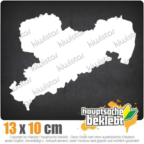 Kiwistar saxe Allemagne silhouette csf0948 13 x 10 CM AUTOCOLLANT