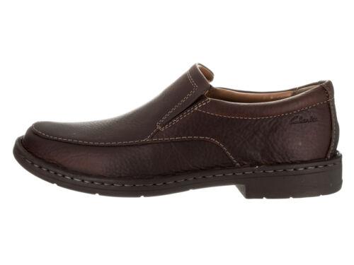 Clarks Mens Kyros Free Brown  Leather Slip On Sneakers Various Sizes