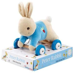 Peter-Rabbit-or-Flopsy-Bunny-Pull-Along-Toy-Baby-Shower-Gift-FAST-DISPATCH