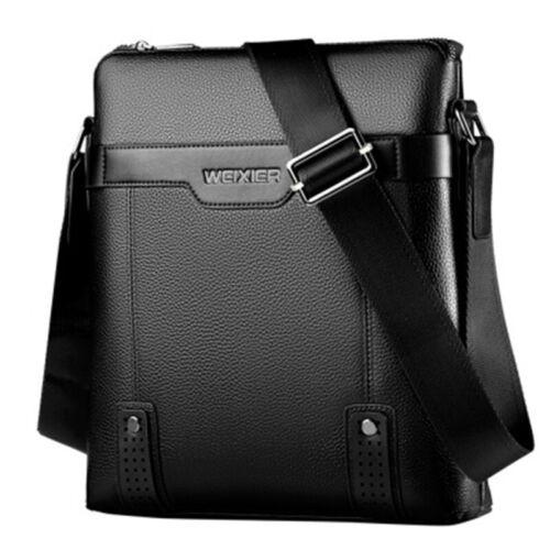 Men PU Leather Soft Messenger Bag Crossbody Handbag Briefcase Bag Shoulder Bag