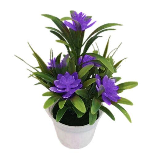 New Plastic Outdoor Artificial Flowers Fake False Plants Grass Garden Lily Tulip