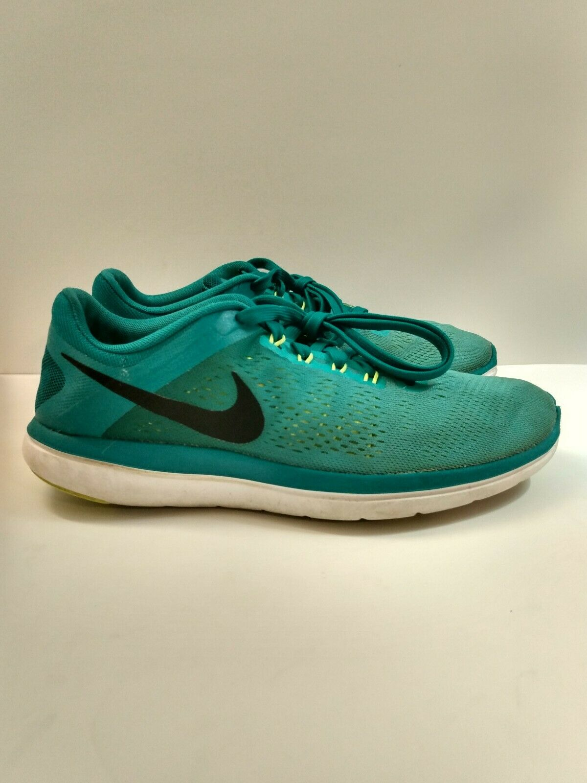 Profesor dieta frutas  Nike Womens Flex 2016 RN Shield Run Running Shoes 852447-300 Sz 8 Green  Glow for sale online | eBay
