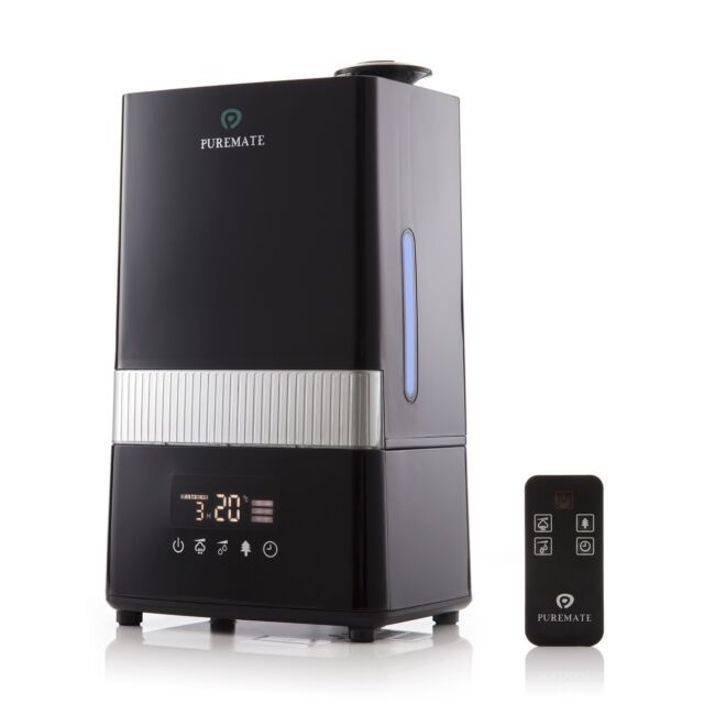 PureMate Digital Ultrasonic Cool and Warm Mist Humidifier with Ioniser