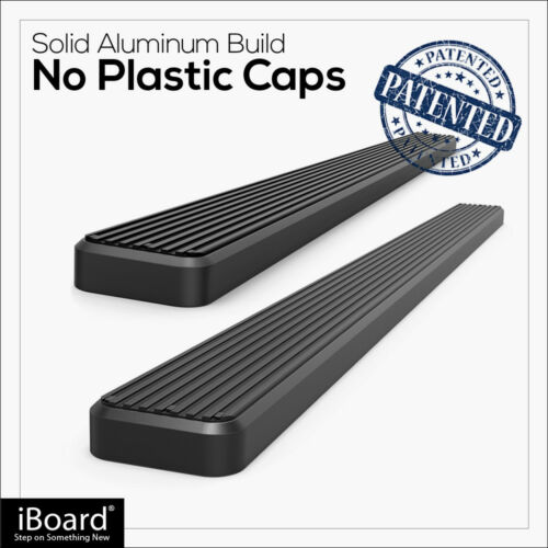 """Premium 5/"""" Black iBoard Side Steps Fit 05-19 Toyota Tacoma Access Cab"""