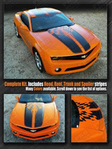 Chevrolet Camaro Checkered Flag Racing Stripes Decals 2010 2011 2012 2013