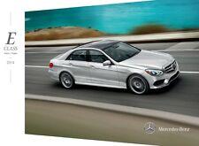 2014 Mercedes Benz E-Class E63 AMG E350 E400 E550 32-page Sales Brochure Catalog