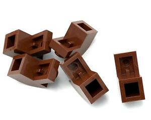 Lego 5 New Reddish Brown Bricks Modified 1 x 2 x 1 1//3 with Curved Tops