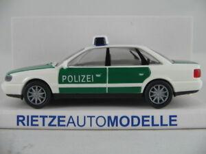 Rietze-50660-audi-a6-Limousine-1994-034-policia-034-en-verde-blanco-1-87-h0-nuevo-en-el-embalaje