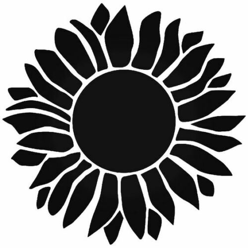 Sunflower Stencil  A4//A5//A6