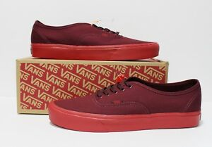 08a22660ab Vans Authentic Lite Pop Sole Port Royale Red Men s Size  10.5
