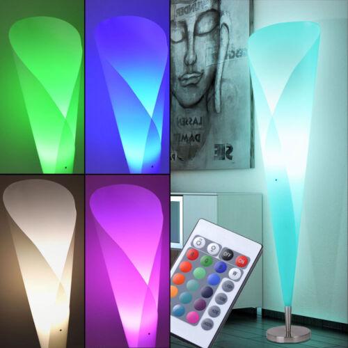 LED Steh Lampe Wohn Zimmer RGB Stand Leuchte Fernbedienung Decken Fluter DIMMBAR
