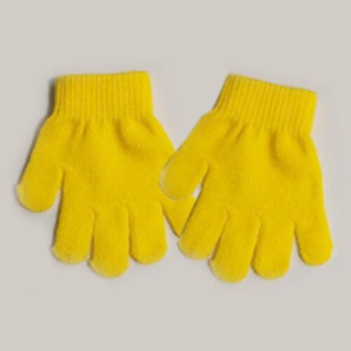 Baby Girls Boys Winter Warm Gloves Knit Stretch Full Finger Mesh Random Gloves