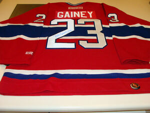 Bob Gainey Montreal Canadiens Hockey COA Signed NHL Autograph Jersey Red Habs