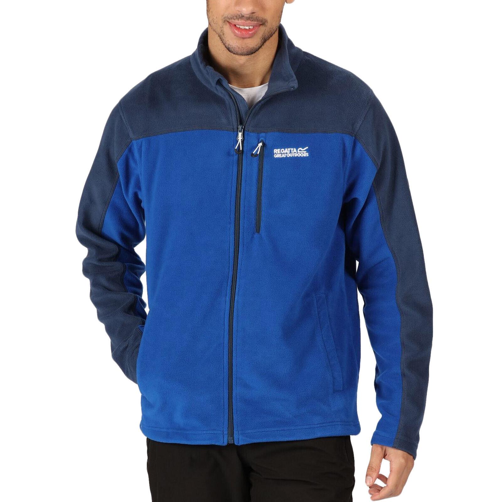 Regatta Mens Fellard Lightweight Outdoor Walking Fleece Jacket - Nautical Blue